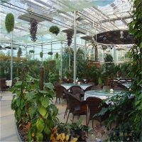 阳光板餐厅顶棚、拜耳料中空板材、进口原包料产品