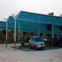 办公楼停车棚、阳光板雨棚、PC板材制作