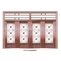 玻璃拼接仿铜门四开玻璃门庭院门高档非标门