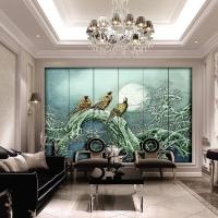 大厅屏风 餐厅屏风 壁画 时尚背景墙 酒店屏风