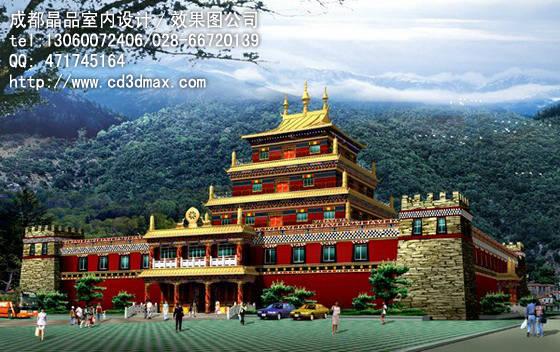藏式建筑设计 西藏风格图片