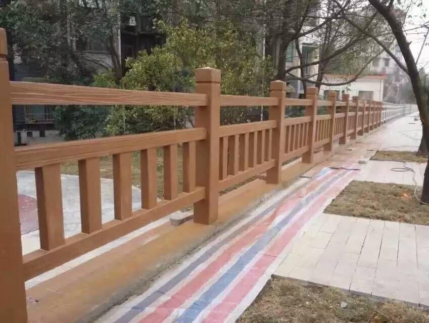 水泥仿木栏杆 绿色环保 古典美观