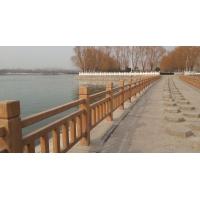 园林景观水泥仿木栏杆,河堤桥梁,栈道仿木护栏