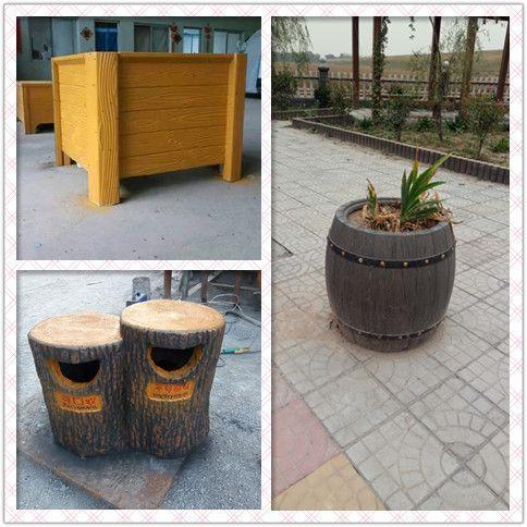 热销 高品质仿木花箱 水泥仿木花桶