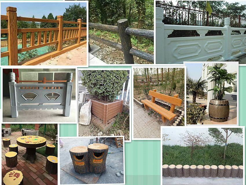 供应加厚仿木桌凳 园林仿木桌椅 公园混凝土长条凳