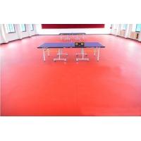 乒乓球运动地板 塑胶乒乓球地板 乒乓球地胶施工