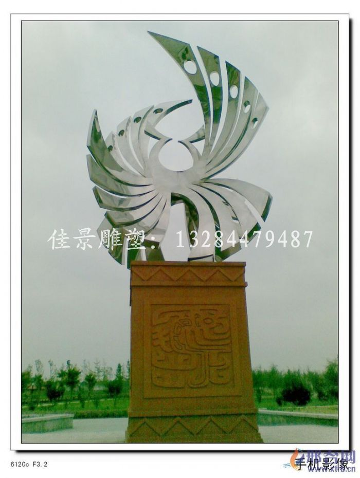 不锈钢雕塑凤凰 凤凰不锈钢雕塑 金凤凰雕塑