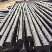 防腐黑油木杆油炸杆架空光缆用电信油木杆 通讯油木杆