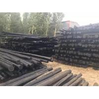 厂家销售防腐油木杆 黑木杆 木杆 电线杆子 任丘市振华