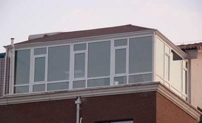 洛阳德高瓦顶阳光房人字顶斜坡顶露台钢构阳光房
