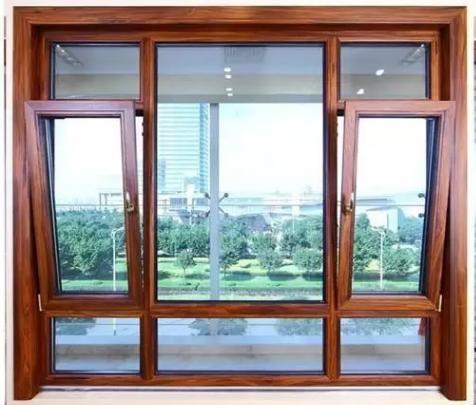 洛阳铝合金钢网一体断桥窗,高层封阳台隔音玻璃对开窗