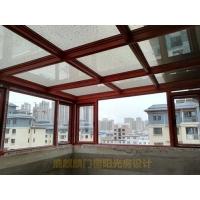 洛阳铝合金阳光房安装,屋顶露台断桥铝阳光房安装实景
