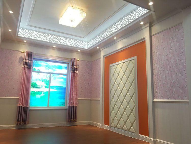 中国华仑观色生态木墙裙装饰防火板竹木纤维集成护墙板
