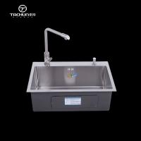 厨房手工201不锈钢单水槽5043洗菜盆厂家直销3MM厚环保