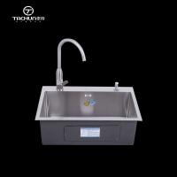 泰淳厨房洗菜盆单槽手工盆加厚304不锈钢6045洗碗池