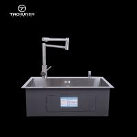 手工不锈钢水槽6545拉丝单槽 304不锈钢厨房洗菜盆