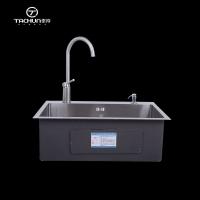 不锈钢厨房手工单槽加厚304不锈钢6845洗菜盆
