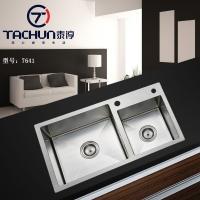 泰淳7641厨房304不锈钢手工洗菜盆加厚加用手工水槽