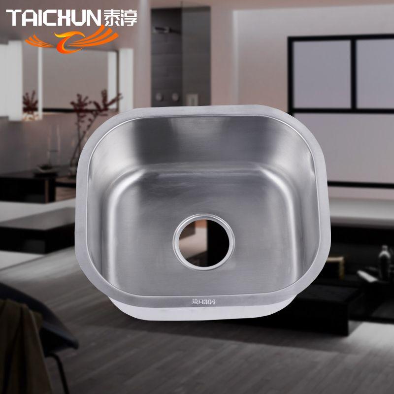 泰淳SUS304不锈钢水槽厨房一体成型不锈钢单槽