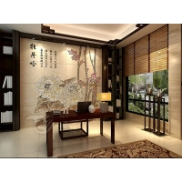 郑州3D彩雕背景墙 电视背景墙