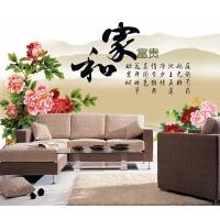 哈尔滨彩雕背景墙  复古风格背景墙