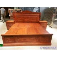 东阳红木家具市场/东阳成套家具/东阳鲁创金玉满堂大床