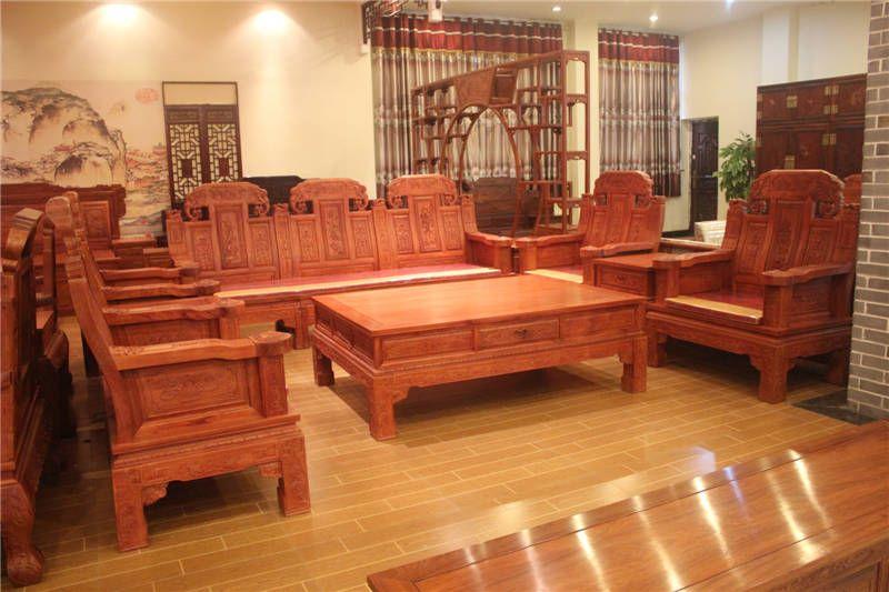东阳市鲁创红木家具有限公司,是一家专业生产古典红木家具的企业,公司红木家具均采用进口酸枝木、花梨木等优质红木原材料,经低温烘干处理,精雕细作而成。 公司于1999年创建,是东阳红木家具行业中起步比较早的企业之一。由于经营理念领先,品质有保障,利用网络优势、借助人才的配合,经销商、代理商遍布全国各地,在武汉、苏州、济宁、贵阳、江西等地开起了多家专卖店,发展至今全国已拥有近百家商户。 公司集设计、生产、销售、服务于一体,选用优秀的设计人才和雕刻师傅,引进先进的生产设备,工序环环相扣,为精细化、流程化生产保驾护