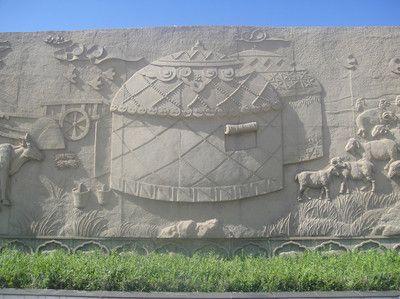 少数名族蒙古族雕塑 蒙古人民 蒙古族人牧马雕塑