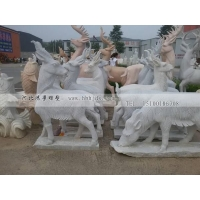 汉白玉石雕山羊雕塑 石雕动物雕塑