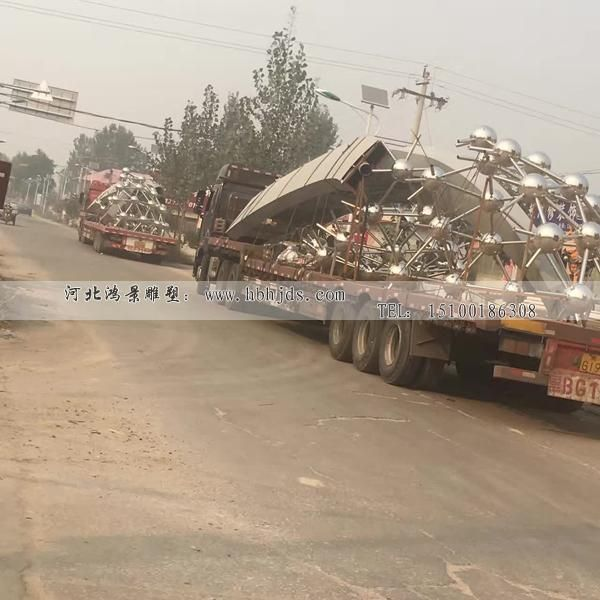 新疆广场景观大型不锈钢雕塑 批发订做价格