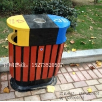 方贸园林定做F-40户外分类垃圾桶,街道广告垃圾箱