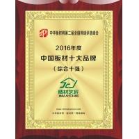 2016中国板材十大品牌