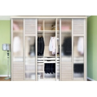 帝安姆 现代风格移门衣柜系列-木塑板加磨砂玻璃移门衣柜