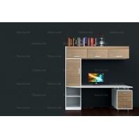 帝安姆 现代简约风格书柜带电脑桌