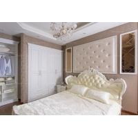 帝安姆 简欧风格覆膜白色平开门衣柜定制四门衣柜