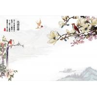 金曼古陶瓷背景墙瓷砖—鸟语花香