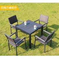 户外桌椅实木桌椅组合别墅花园阳台休闲桌椅奶茶店咖啡厅桌椅
