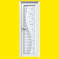成都白色平开门左锁冰雕玻璃 YA-096