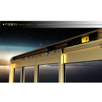 自动门 感应电动平移门推拉门弧形玻璃门 铝合金门窗