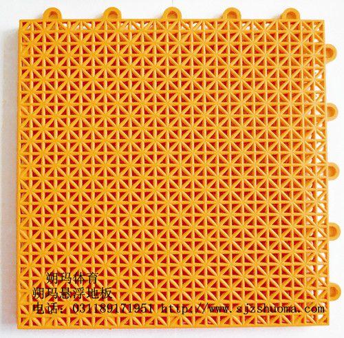 内蒙 软悬浮拼装地板生产厂家软足球场幼儿园地板米格赤橙色