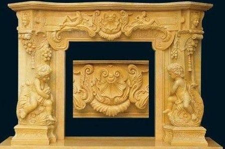 供应室内石雕取暖装饰欧式壁炉精品雕塑摆件