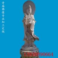 石雕观音 价格优惠 寺庙汉白玉石雕观音雕塑