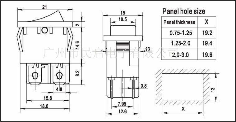 (G):6(2)A 250VAC T125/55 1E4 10A 125VAC (H):10(4)A 250VAC T125/55 1E4 10(2)A 250VAC T85/55 5E4 16A 125VAC/10A250VAC 1/3HP 125-250VAC T105 广州市民启电子有限公司,从事连接器生产及销售,为客户提供高品质产品及最好的技术服务,产品包括:电源开关、船型开关、翘板开关、微动开关、按钮开关、钮子开关、滑动开关、