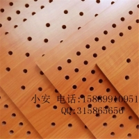 【坤耐正品】孔木吸音12MM吊顶隔音走廊装饰会议室墙体孔木隔