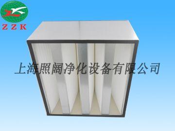 空調箱專用空氣過濾網過濾耗材箱式高效V型空氣過濾網