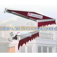 北京伸缩曲臂遮阳蓬定做 商业街法式蓬 大排档推拉蓬