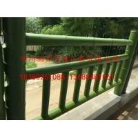 四川驰升公园景区水泥仿竹栏杆