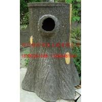 四川驰升公园小区仿树皮垃圾桶 成都仿木垃圾桶
