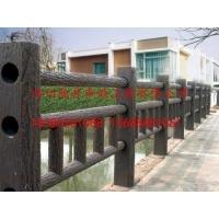 四川驰升仿木栅栏 仿木护栏 仿树皮栏杆