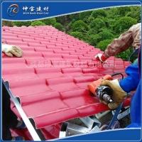 新型屋面材仿古树脂瓦耐候彩钢瓦